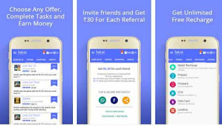 Fokat App: Earn Free Recharges [ Rs 10 Signup + Rs 30 Referral ]
