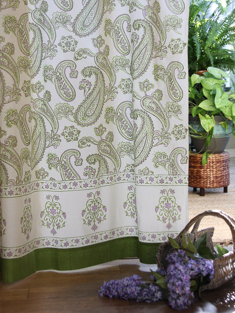 Desigrans Interior Elements Lime Green On Ivory White Bedding Curtains And Table Linen Green