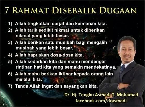 Rahmat, Tengku Asmadi, Dugaan, Hapus Dosa, Sabar, Nikmat