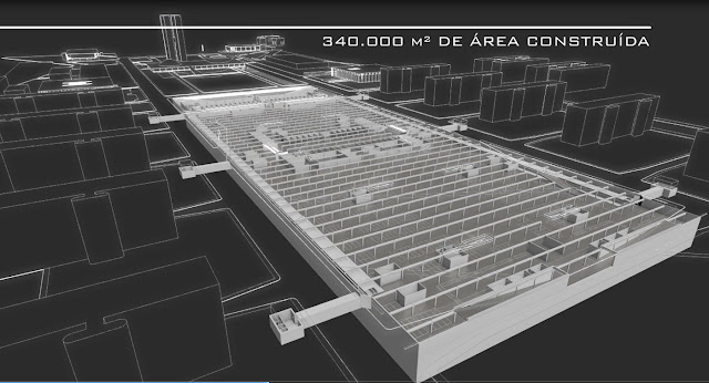 Estacionamento subterrâneo ocupará uma área de 340 mil metros quadrados e terá quatro pavimentos