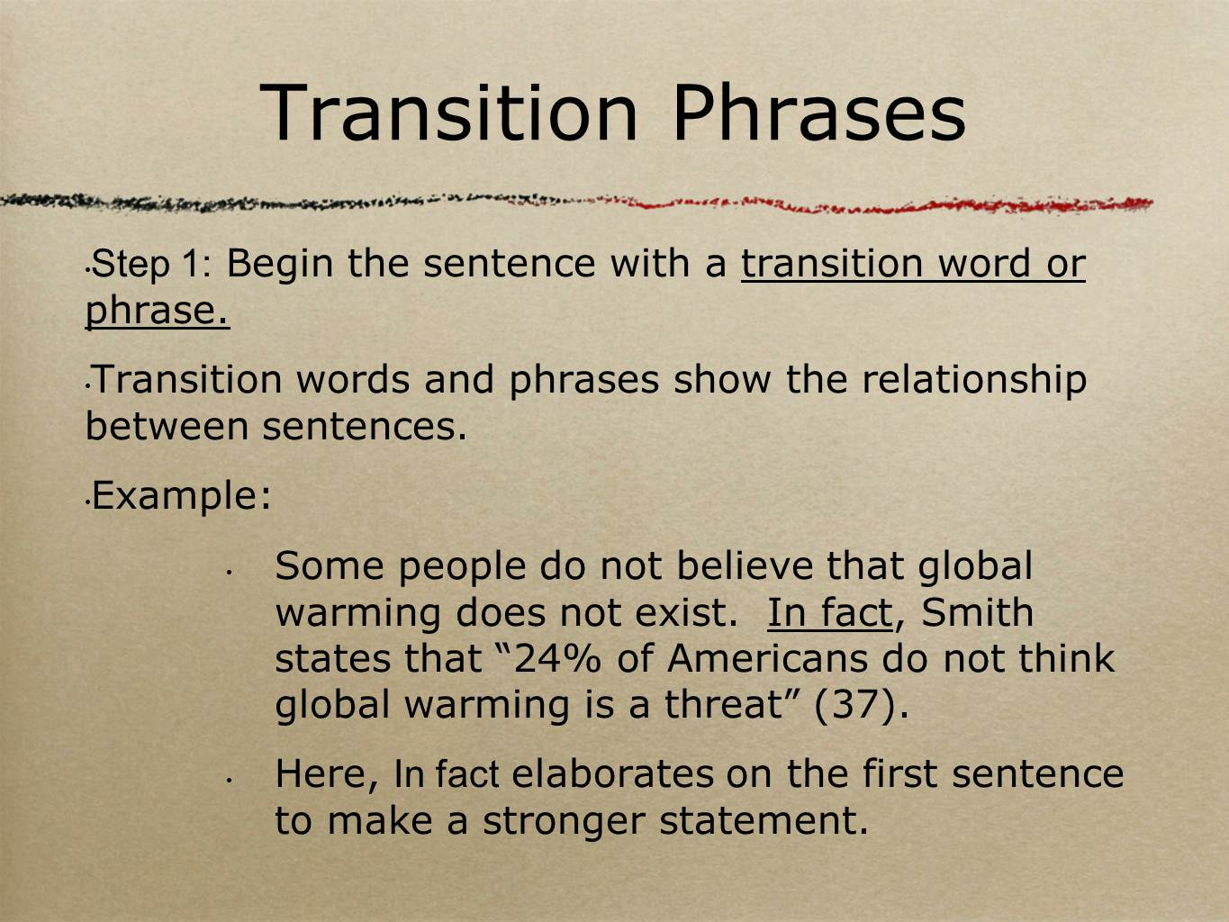 transition quotes essay