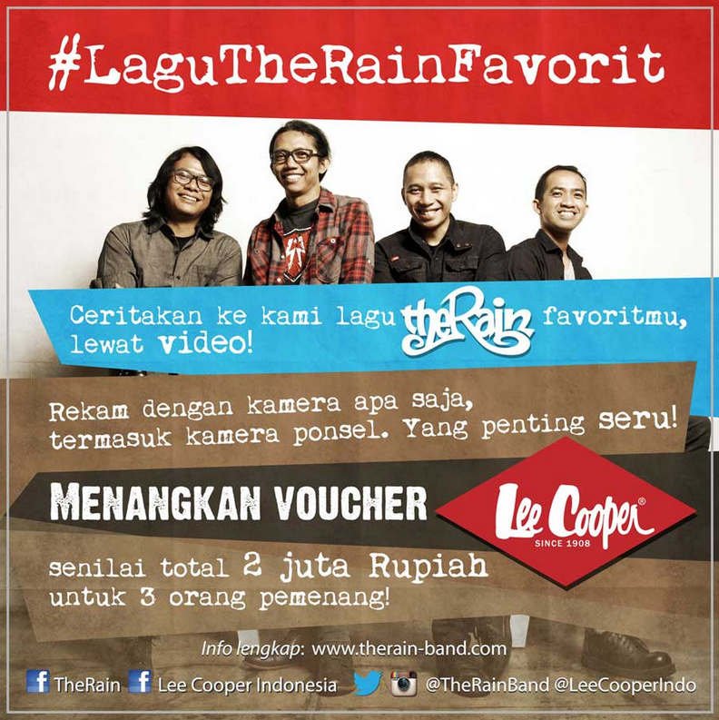 Lomba Video The Rain Berhadiah Voucher Lee Cooper Total 2 Juta