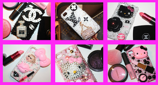 Designer inspired cell phone covers sold on etsy