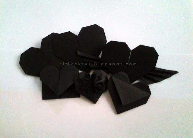 Cara buat origami LOVE / HEART dari kertas