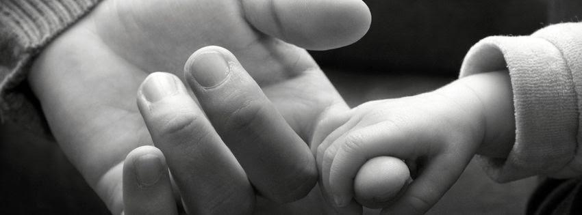 Couverture noir et blanc pour facebook fait main