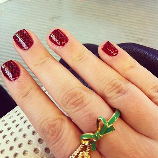 as unhas decoradas Combinações Spring Color, Toneladas de brilho
