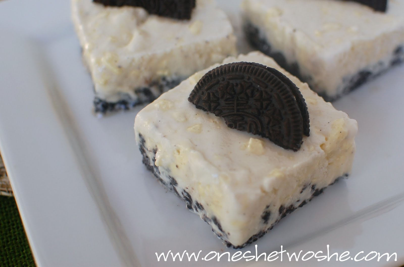butter mint oreo ice cream bars or so she says. Black Bedroom Furniture Sets. Home Design Ideas