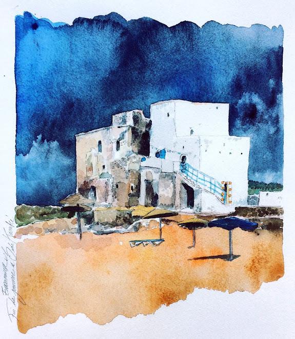Carnet de voyage, fin de journée à Sidi Karouki, Essaouira, maroc