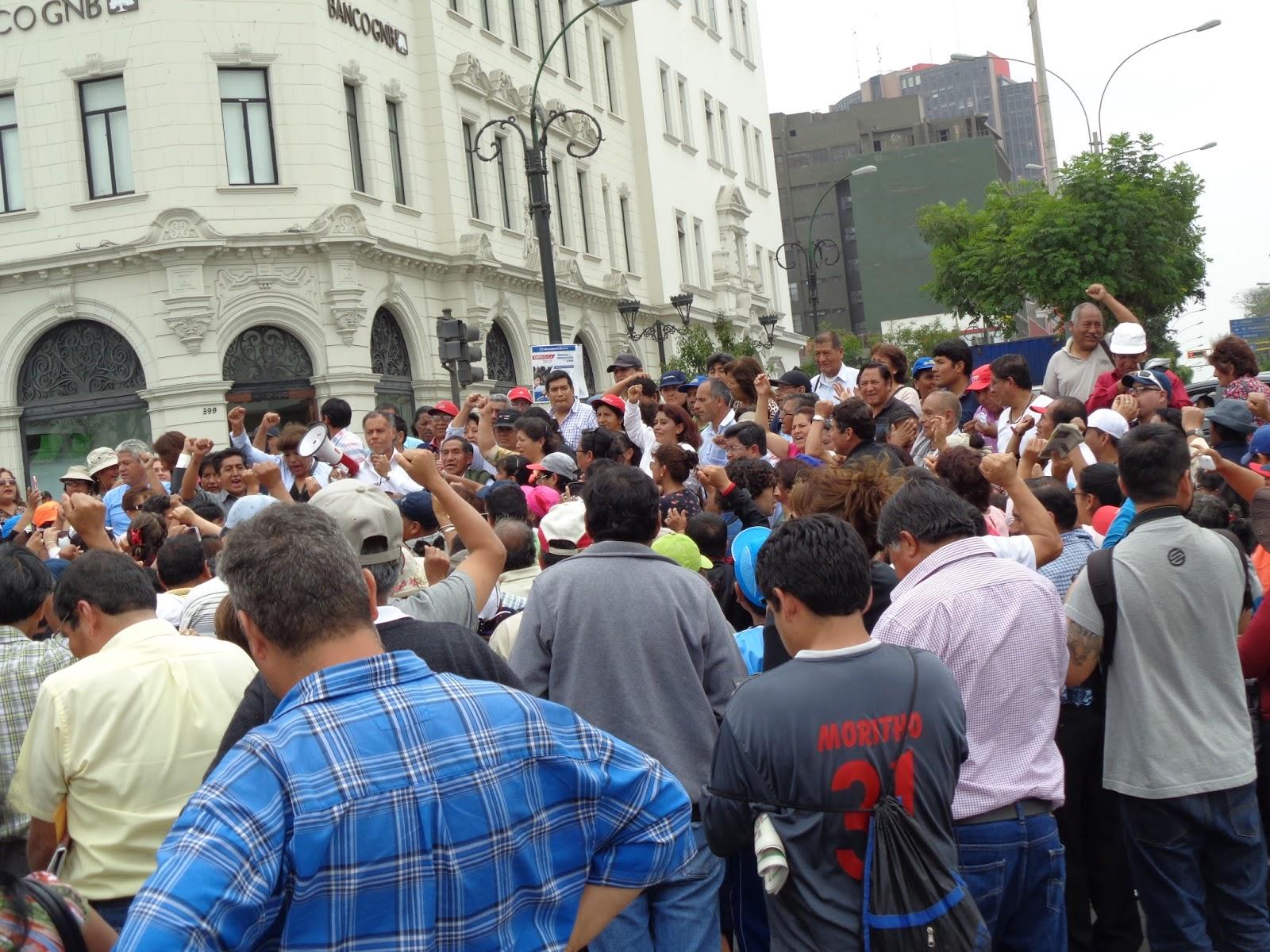 Fentase callao 22do d a de huelga nacional indefinida for Ministerio de educacion plazas
