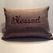BLESSED - tan linen (also available in light grey linen w/ivory lettering)