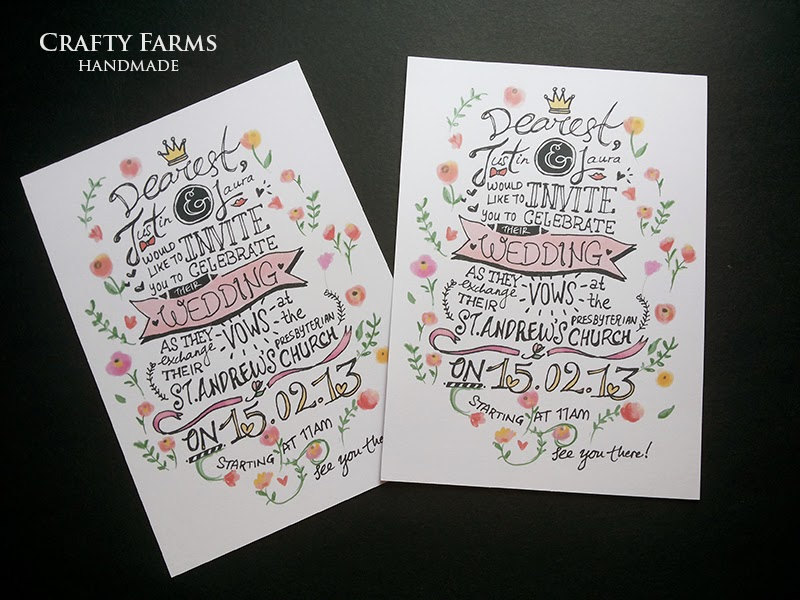 Wedding Card Malaysia Crafty Farms Handmade Bespoke
