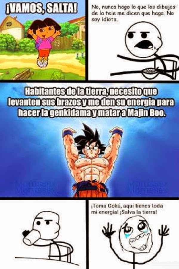 Toma mi energía Goku