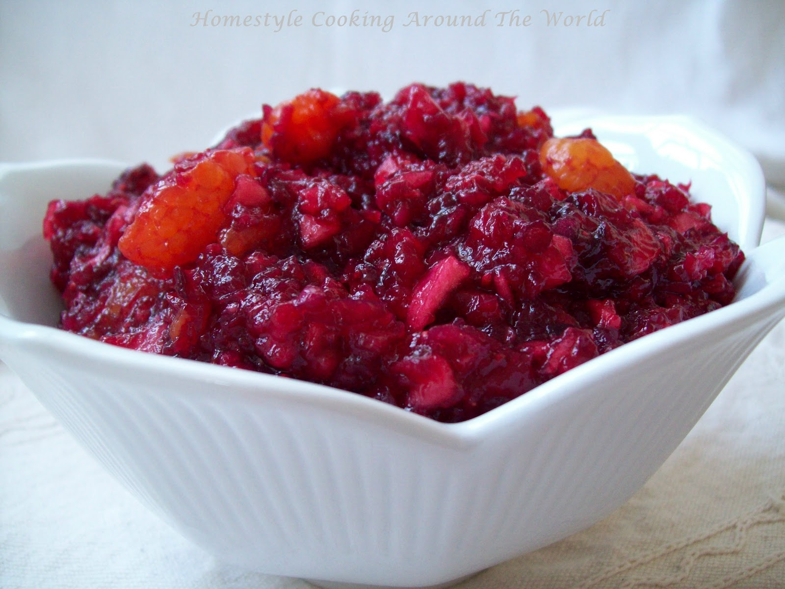 Homestyle Cooking Around The World: Cranberry Salad/Relish