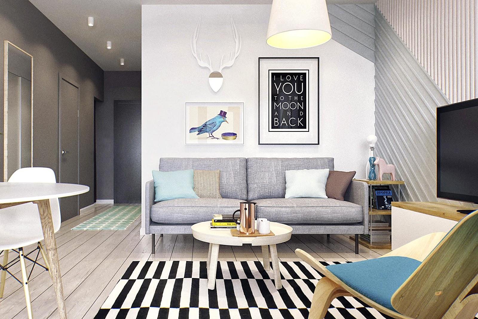 #4A6D81 sala de estar ikea 1600x1067 píxeis em Como Decorar La Sala Comedor De Un Apartamento Pequeño