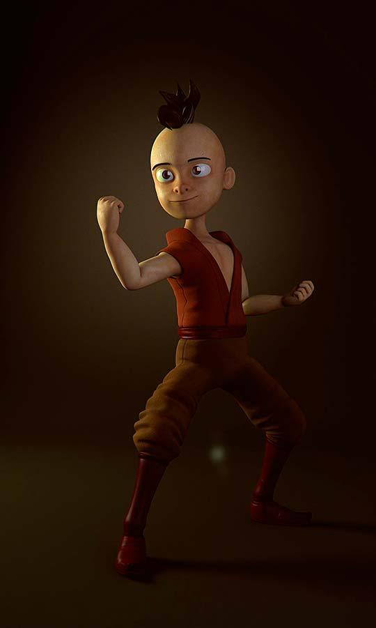 Personaje 3D de Cristian Bolívar