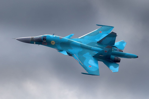 Russian-made Sukhoi Su-34. (Photo from Wikimedia Commons)