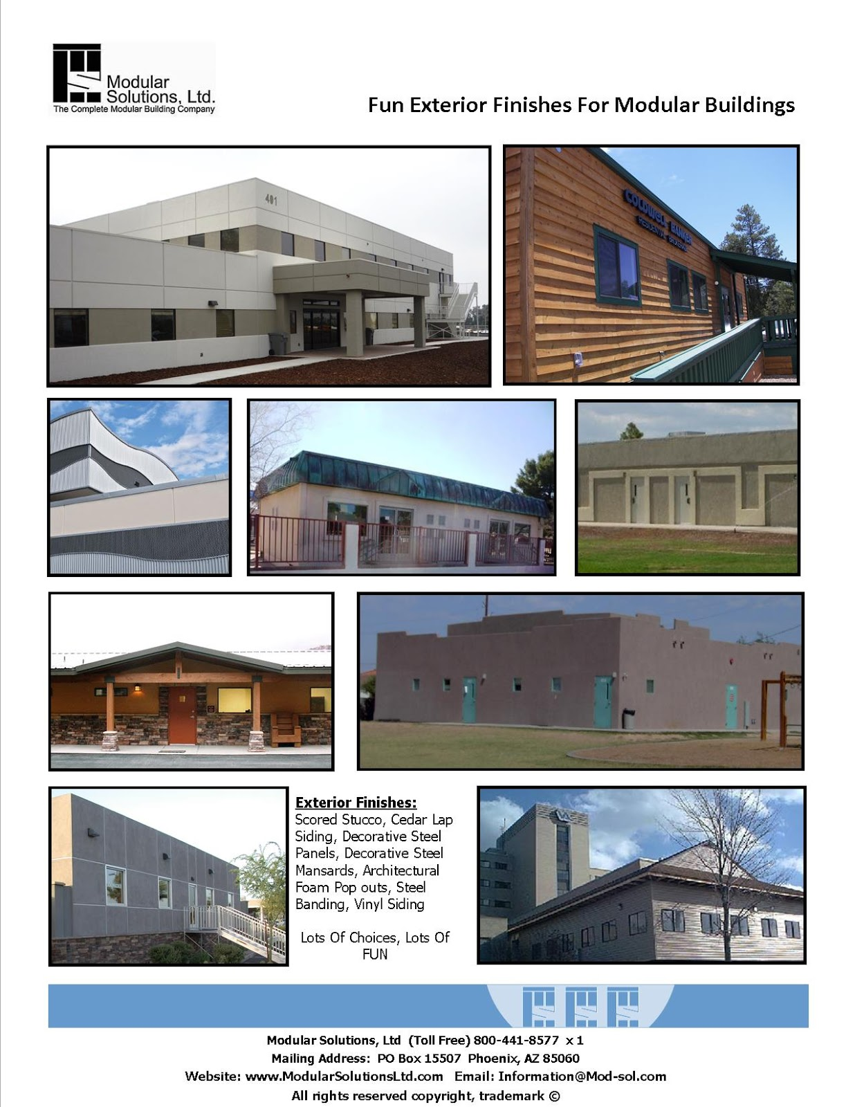 Modular Solutions Ltd The Experts On Prefabricated Buildings Fun Exterior Finishes For