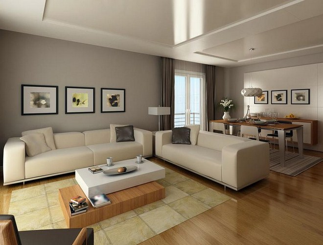 Modern Living Room Brown Design Of Contemporary Living Room Ideas ...