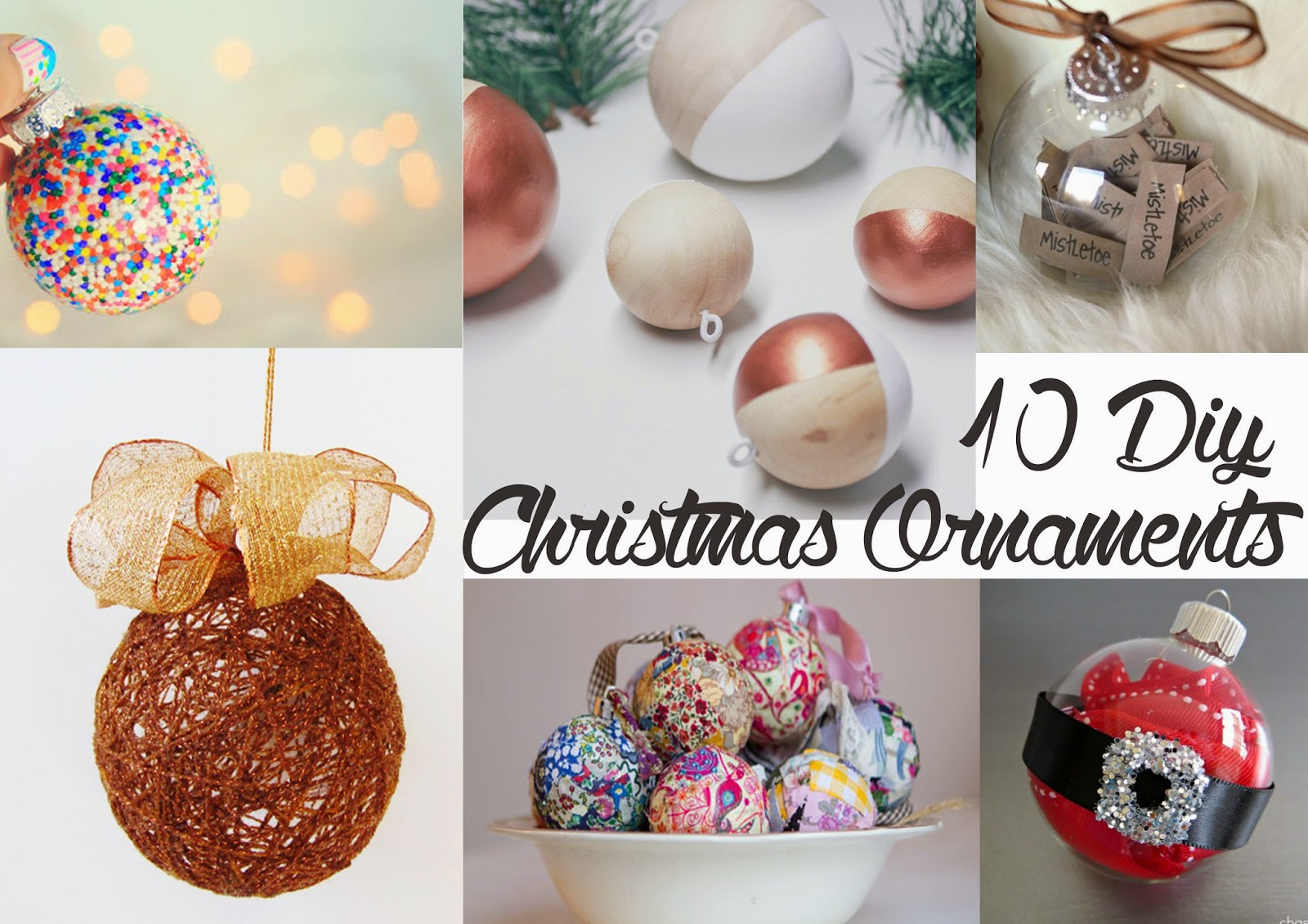 Studio Oblique: 10 DIY Ideas for Christmas Baubles