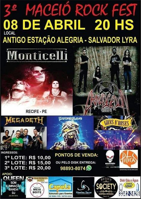 08-04-2017 - 3º MACEIÓ ROCK FEST - Maceió - AL