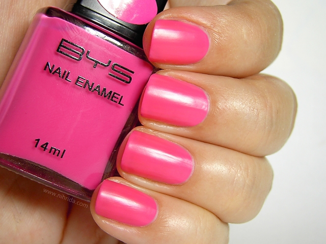 BYS Colour Change Nail Enamel in Bright Pink