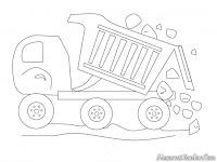 Gambar Mobil Truk Pengangkut Batu Menurunkan Muatan