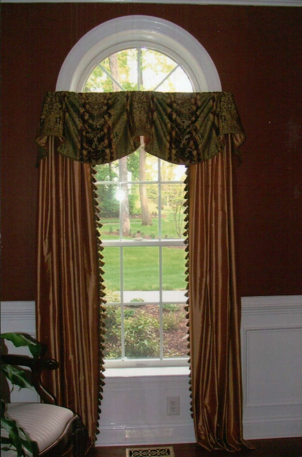 custom window treatments by why sew serious arch windows. Black Bedroom Furniture Sets. Home Design Ideas