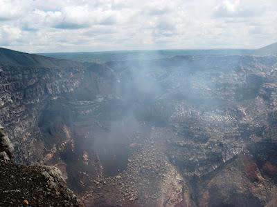 Masaya volcano crater