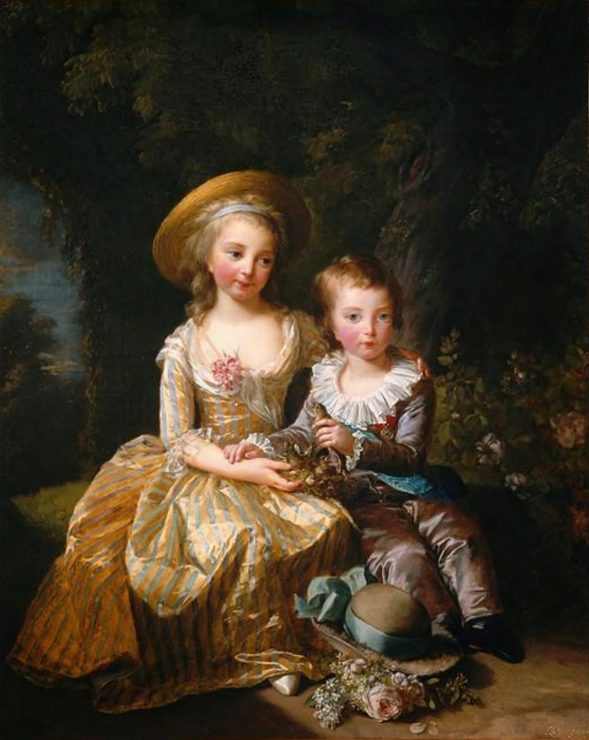Maria Teresa y su hermano hijos de María Antonieta.