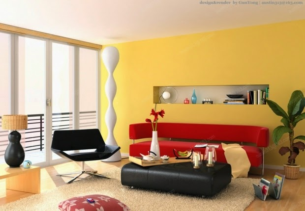 Living Room Paint Color Ideas Living Room With Yellow Color Warm