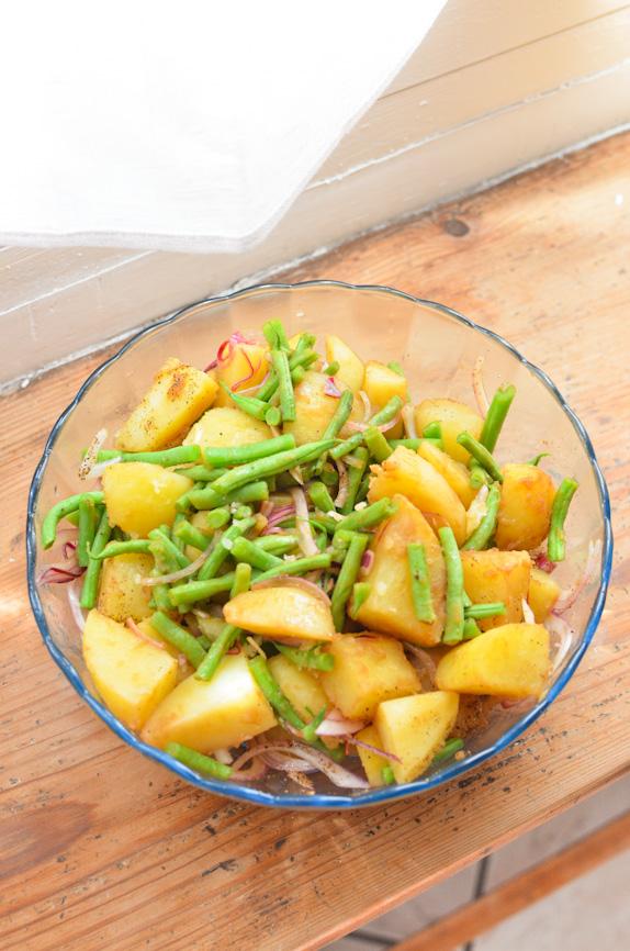 Scandi Home: Vegan Travel Tips + Warm Potato and Green Bean Salad