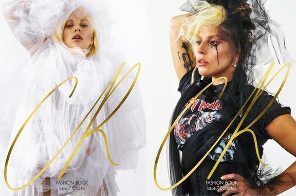"""Lady Gaga es la portada de """"CR Fashion Book"""" y dice que ella es mas Iron Maiden que Madonna."""