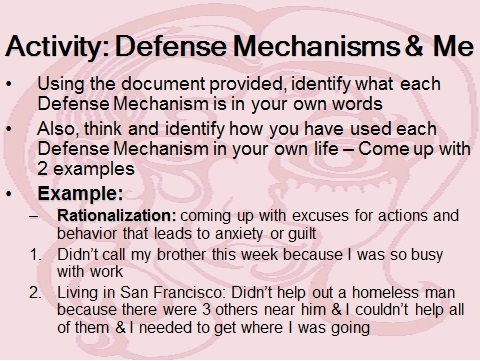 defense mechanism paper