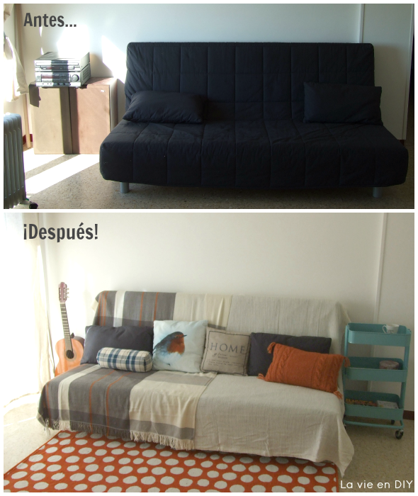 Diy Decoracion Salon ~ DIY #DECORACI?N Dar vida a un mini sal?n con muchas telas y poco