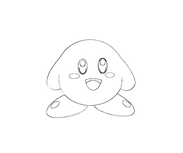 #10 Kirby Coloring Page