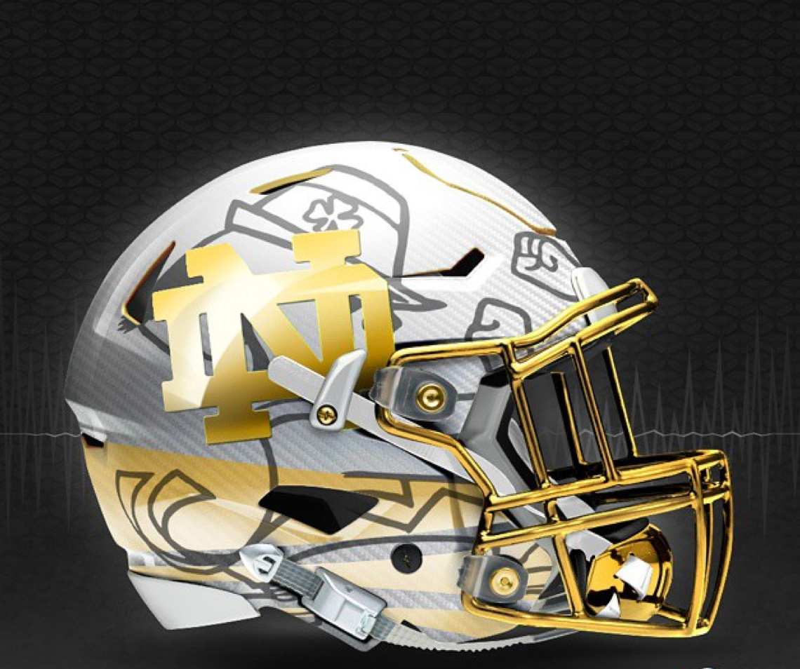 college football logo score of the notre dame football game