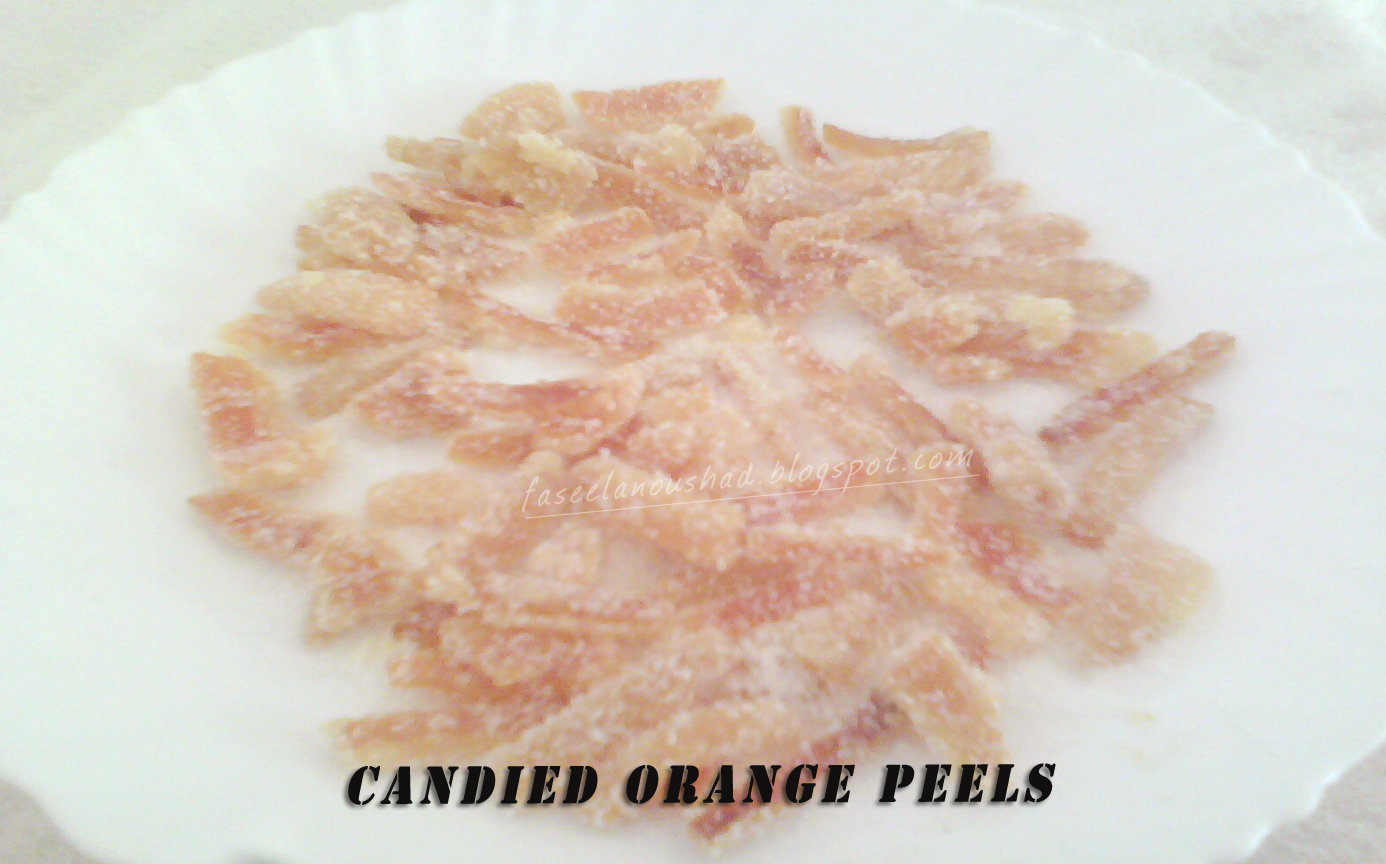 GOOD FOOD ENDS WITH GOOD TALK: Candied Orange Peels