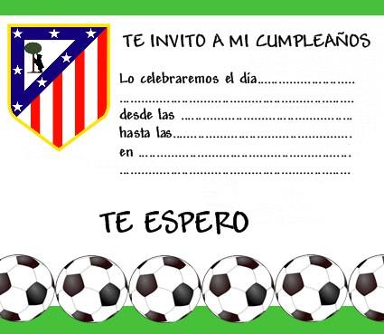 Invitaciónes cumpleaños futbol para imprimir gratis - Imagui