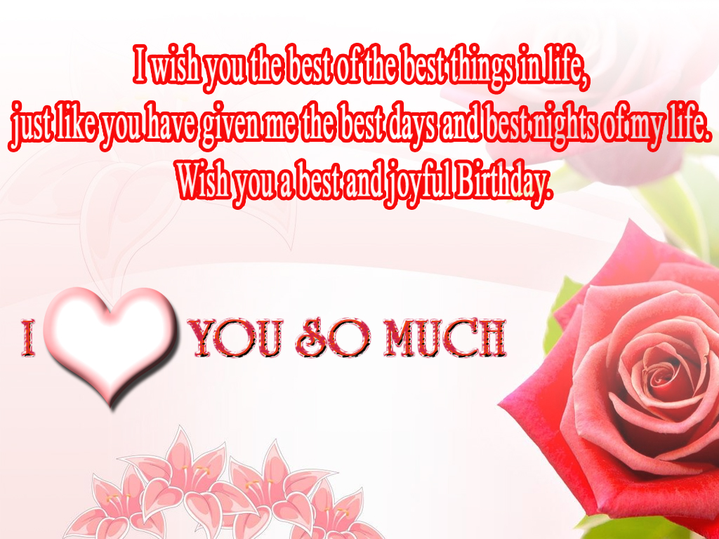 The Greeting Card For You Happy Birthday And I Love You