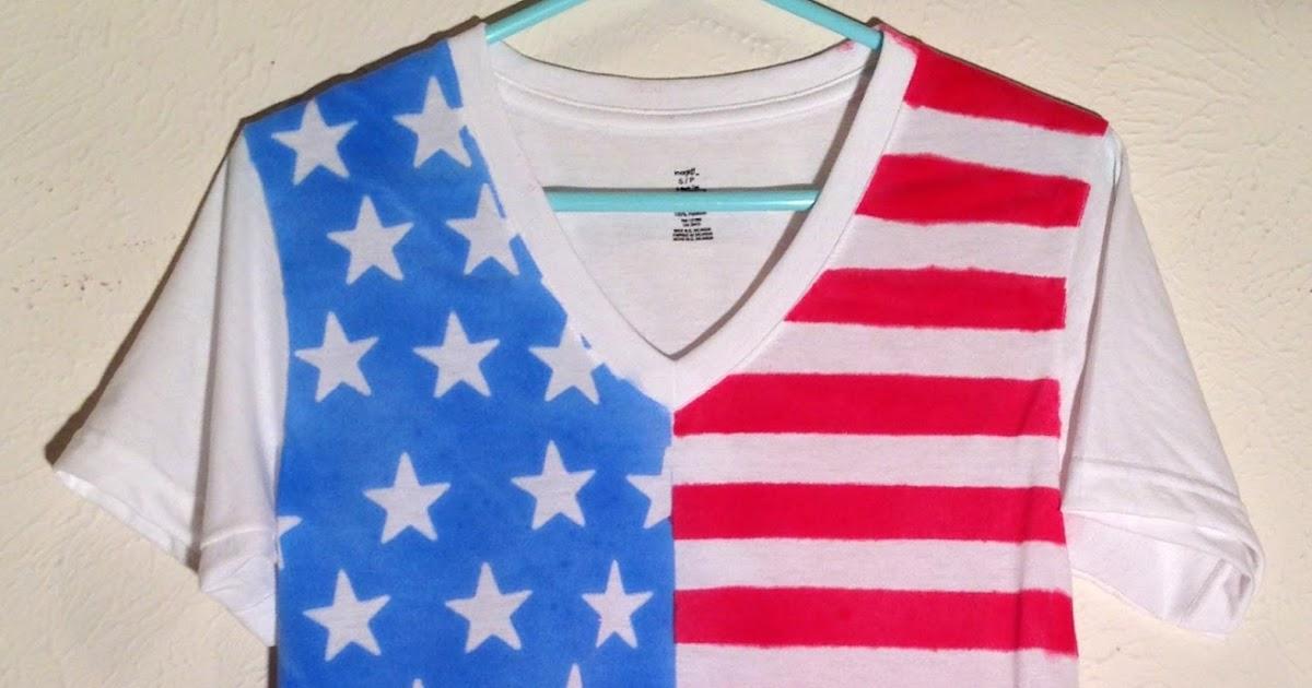 Mint Green Meg 4th Of July American Flag Shirt Diy
