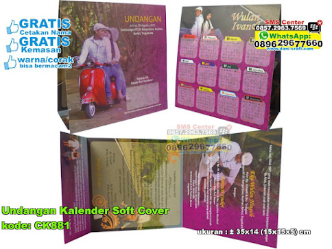 Undangan Kalender Soft Cover