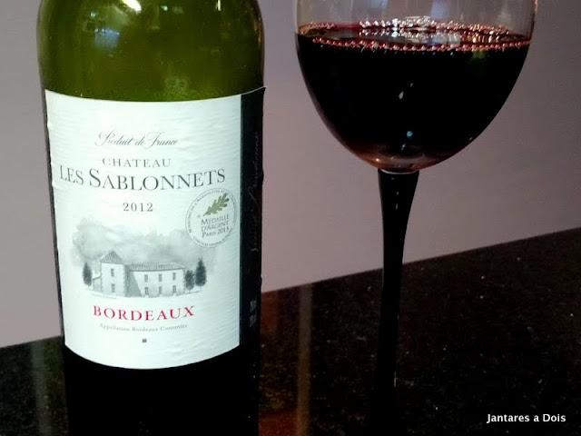 Vinho Tinto Bordeaux Les Sablonnets