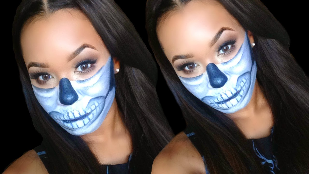 Beauty by genecia half sugar skull halloween makeup tutorial half sugar skull halloween makeup tutorial outfit ideas baditri Image collections