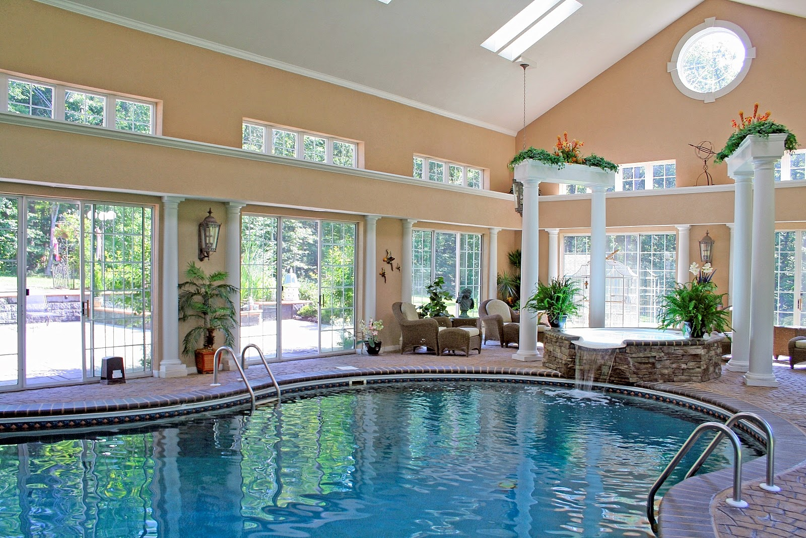 Beautiful collection indoors swimming pool design ideas - Free swimming pool maintenance software ...