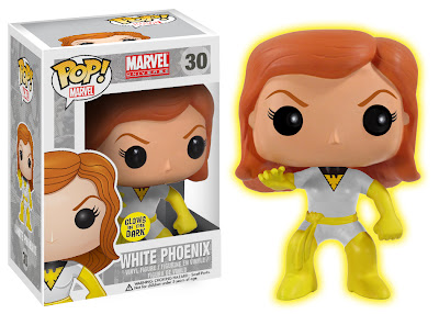 Conquest Comics Exclusive Glow in the Dark Variant White Phoenix Pop! Marvel Vinyl Figure by Funko