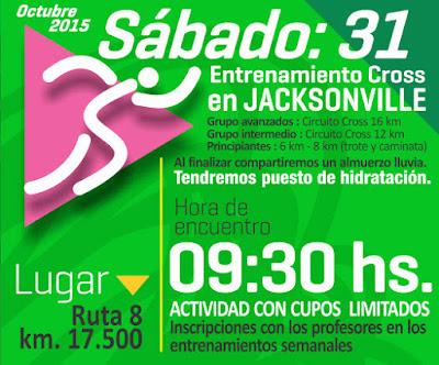 16k - 12k - 8k y 6k - Entrenamiento gratuito de cross en Jacksonville (Montevideo, 31/oct/2015)