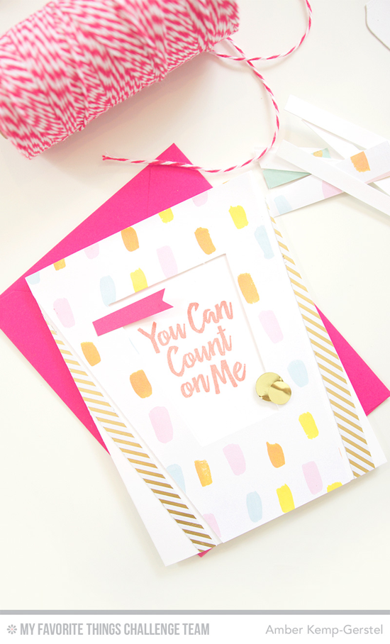 You Can Count On Me Card by Amber Kemp-Gerstel featuring the Encouraging Words stamp set #mftstamps