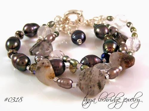 Tanya Lochridge Jewelry Pyrite Quartz & Freshwater Pearl Bracelet