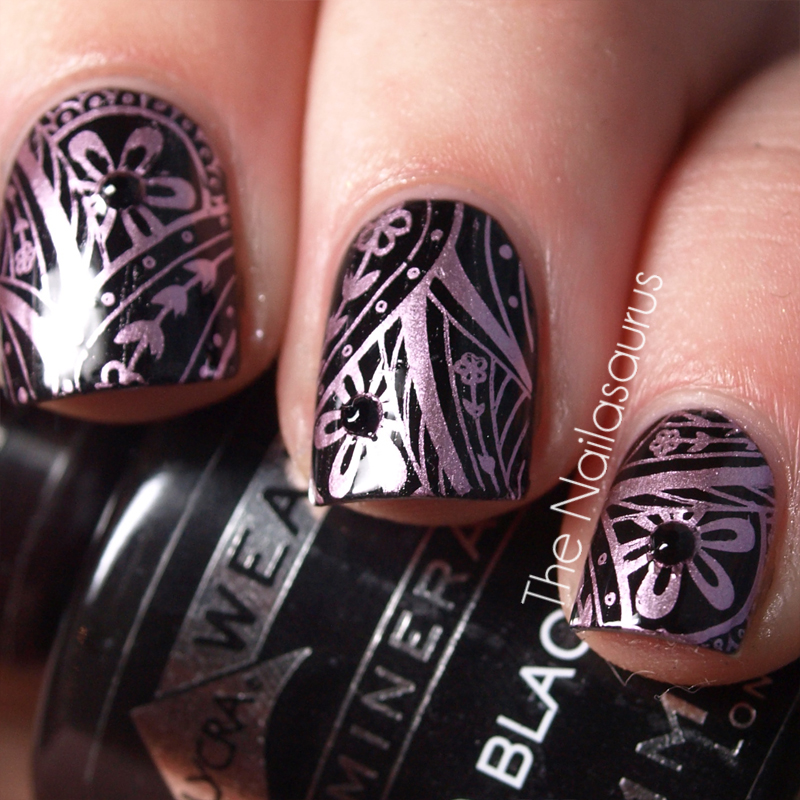 Gosh Metallic Purple With Konad M60 The Nailasaurus Uk Nail Art Blog