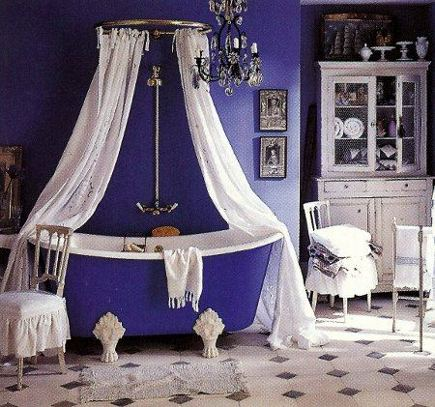In All Honesty My Most Disliked Room For The Color Purple Is The Bathroom There Are